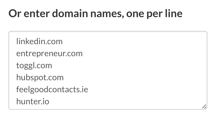 Email Hunter Bulk Domain Copy Paste>